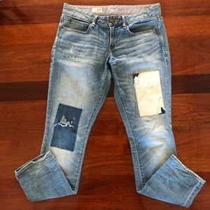 Gap Real Straight Leg Patchwork Jeans Size 29/8